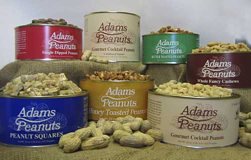 An assortment of the many delicious peanuts available.